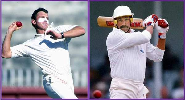 ...Most wickets 18 - Craig McDermott (aus) left-Most run Graham guch(Eng)...